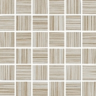 Eleganza Mocha 2x2 Fabric Look Mosaic Tile B60829H