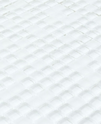 Eleganza Ice White 3/8 Glass Mosaic Tile MICRON-ICE-WHITE-12X12