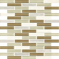Eleganza Claro Interlocking Mosaic Tile GL3079