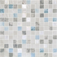 Eleganza Essence Carrara Mix Macauba 1x1 Mosaic Tile 202693