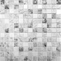 Eleganza Essence Carrara Mix Grey 1x1 Mosaic Tile 202692