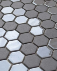 Eleganza Pewter Hexagon Mosaic Tile 202908