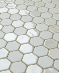 Eleganza Pearl Hexagon Mosaic Tile 202907