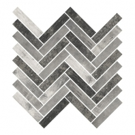 Eleganza City Wood Look Herringbone Mosaic Tile F000913