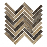 Eleganza Forest Wood Look Herringbone Mosaic Tile F000914