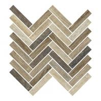 Eleganza Park Wood Look Herringbone Mosaic Tile F000915