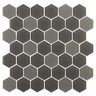 Eleganza Cappuccino Hexagon Glass Mosaic Tile GL3512