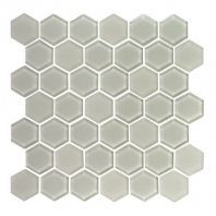 Eleganza Latte Hexagon Glass Mosaic Tile GL3511