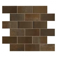 Eleganza Rust Matte Interlocking Metal Look Mosaic Tile 02STWMB66R