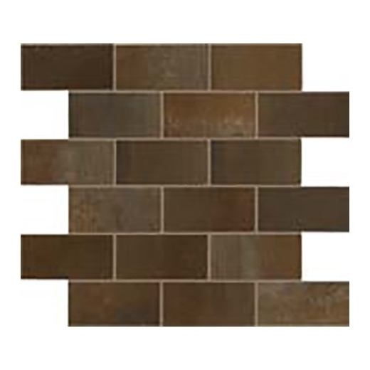 Eleganza Rust Matte Interlocking Metal Look Mosaic Tile 02STWMB66R