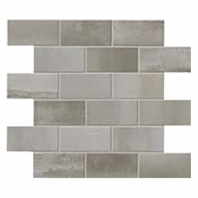 Eleganza Nickel Matte Interlocking Metal Look Mosaic Tile 02STWMB44R