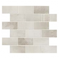Eleganza Chrome Matte Interlocking Metal Look Mosaic Tile 02STWMB11R