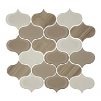 Eleganza Earth Water-Jet Arabesque Mosaic Tile GD-53