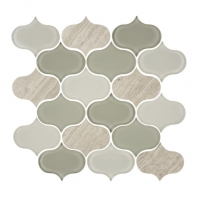 Eleganza Forest Water-Jet Arabesque Mosaic Tile GD-51
