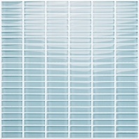 Eleganza Crystal Blue Straight Brick Glass Mosaic Tile GLV3902