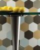 Eleganza Snow White Hexagon Glass Mosaic Tile GLV4011