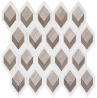 Ashbury Series Moonlit Passage Long Hexagon Mosaic Tile AHR-433