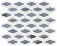 Garden Party Series Lunar Ice Long Hexagon Mosaic Tile GDN-132