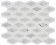 Garden Party Series Coconut White Long Hexagon Mosaic Tile GDN-133