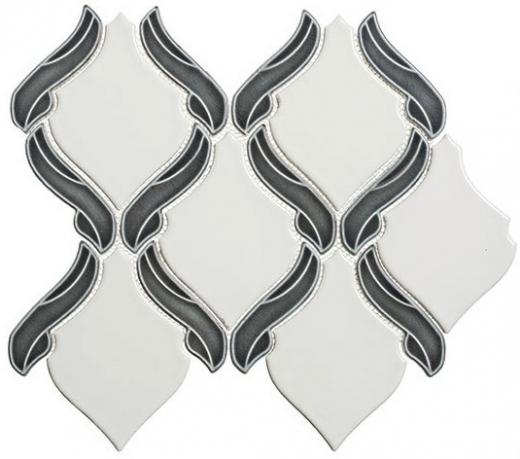 Lumiere Series Orion Noir 1 Arabesque Mosaic Tile LMR-8501