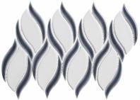 Lumiere Series Orion Noir 2 Spiral Mosaic Tile LMR-8511