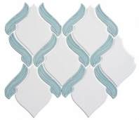 Lumiere Series Marseille Aqua 1 Arabesque Mosaic Tile LMR-8504