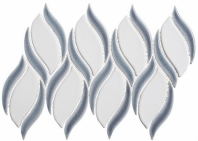 Lumiere Series Eifel Grey 2 Spiral Mosaic Tile LMR-8516