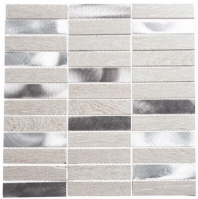 Maison De Luxe Series Silver Tower 1x4 Stacked Mosaic Tile MDX-2702