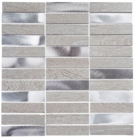 Maison De Luxe Series Decadent Star 1x4 Stacked Mosaic Tile MDX-2703