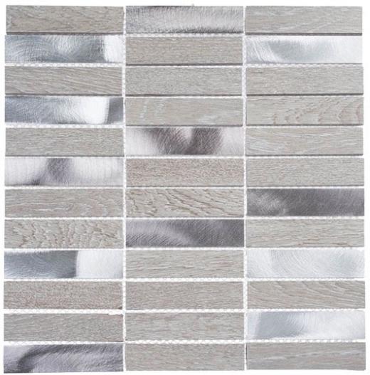 Maison De Luxe Series Decadent Star 1x4 Stacked Mosaic Tile MDX-2703