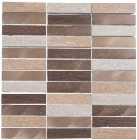 Maison De Luxe Series Gilden Sable 1x4 Stacked Mosaic Tile MDX-2704