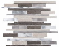 Maison De Luxe Series Platinum Road Interlocking Mosaic Tile MDX-2722