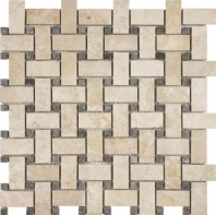 Anatolia Uptown Stone Honed Allure Crema Basketweave Tile AC76-364