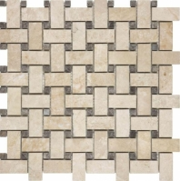 Anatolia Uptown Stone Polished Allure Crema Basketweave Tile AC76-360