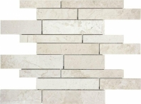 Anatolia Uptown Stone Polished Berkshire Crema Random Strip Interlocking Mosaic ACNS108