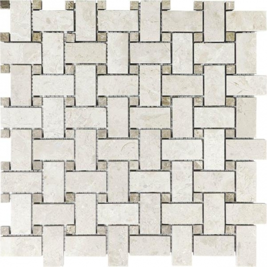 kitchen cabinet edging anatolia uptown honed berkshire crema basketweave tile acns127 18722