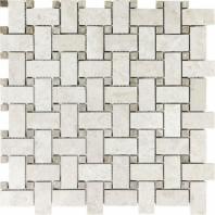 Anatolia Uptown Stone Polished Berkshire Crema Basketweave Tile ACNS107