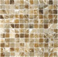 Anatolia Uptown Stone 1x1 Polished Caramel Onyx Mosaic ACNS194