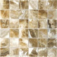 Anatolia Uptown Stone 2x2 Polished Caramel Onyx Mosaic ACNS195