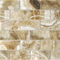 Anatolia Uptown Stone 2x4 Polished Caramel Onyx Subway Tile ACNS196