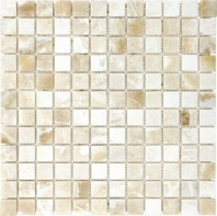 Anatolia Uptown Stone 1x1 Polished Crema Onyx Mosaic ACNS204