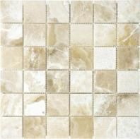 Anatolia Uptown Stone 2x2 Polished Crema Onyx Mosaic ACNS205