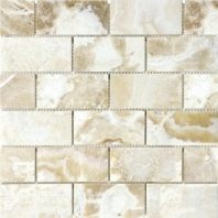 Anatolia Uptown Stone 2x4 Polished Crema Onyx Subway Tile ACNS206