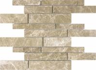 Anatolia Uptown Stone Honed Emperador Light Random Strip Interlocking Tile ACNS168