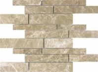 Anatolia Uptown Stone Polished Emperador Light Random Strip Interlocking Tile ACNS148