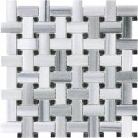 Anatolia Uptown Stone Polished Fluid Marble Basketweave Tile ACNS257