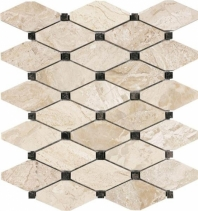 Anatolia Uptown Stone Honed Impero Reale Clipped Diamond Mosaic AC76-416