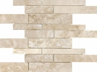 Anatolia Uptown Stone Filled And Honed Ivory Random Strip Interlocking Tile ACNS324