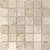 Anatolia Uptown Stone Filled And Honed 2x2 Ivory Mosaic ACNS321