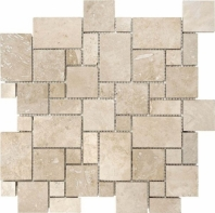 Anatolia Uptown Stone Filled And Honed Ivory Mini Versailles Mosaic ACNS325